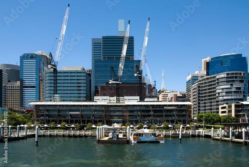 Poster Gris Darling Harbour Scene