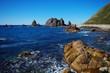 奥尻の海岸と岩