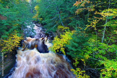 Fotobehang Natuur Park Presque Isle River Northwoods Michigan