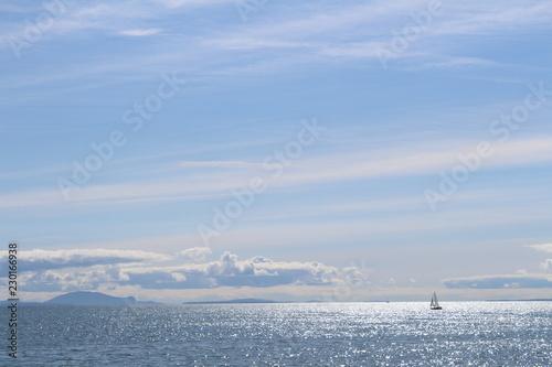 Poster Mer / Ocean White Rock