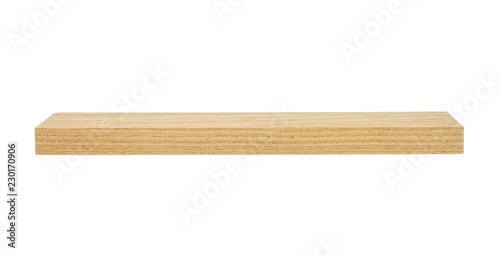 Spoed Fotobehang Bakkerij Wooden beam isolated on white background