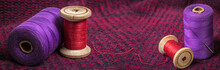 Spools Of Colored Threads, Pho...