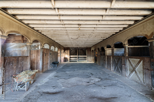 Fotografie, Obraz  Inside an historic Victorian Horse Barn at Wilder Ranch