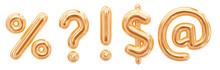 Gold Foil Alphabet Symbols Que...