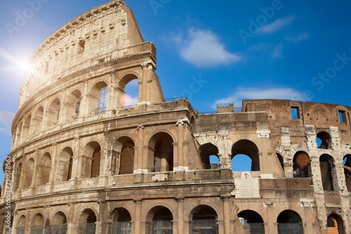 Photo  ancient Colosseum. Rome. Italy