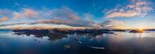 Aerial Sunrise Over Svolvaer, ...
