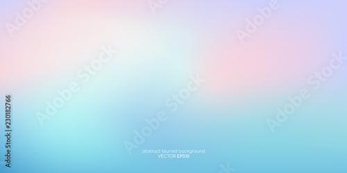 Obraz na plátně Vector abstract colorful background blurred gradient pastel color palette