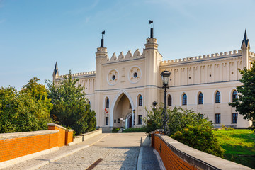 view of medieval royal castle in Lublin, Poland