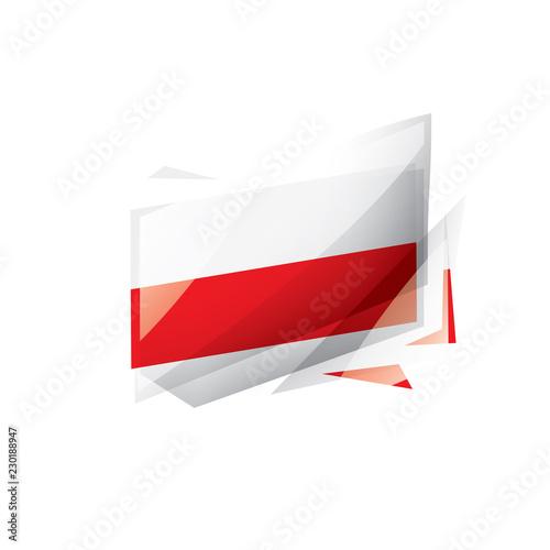 Принти на полотні Poland flag, vector illustration on a white background