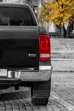 Large SUV Rear View. Against A...