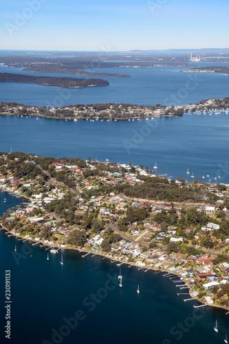 Poster Oceanië Fishing Point and Wangi Lake Macquarie Newcastle Australia