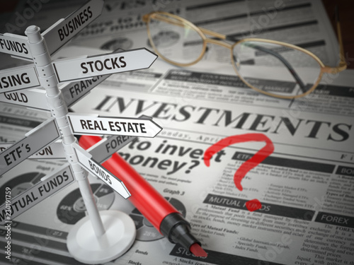 Photo Investmments and asset allocation concept