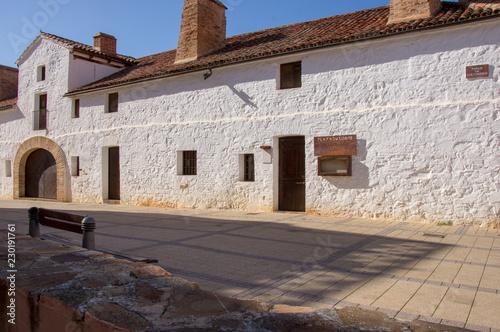 Fotografía  Hexagonal bullring in Almaden, Spain