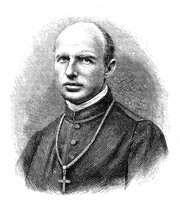 Engraving Portrait Of  Karl Motschi, Abbot From 1873 To 1900 Of Mariastein, Benedictine Monastery In Solothurn Canton In Switzerland