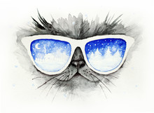 Cat In The Glasses In Which Wi...