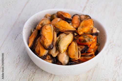 Valokuvatapetti Tasty sea clams