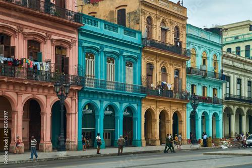 Edificios de colores de La Habana