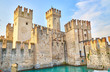 """Fortress of """"Sirmione"""" at Lake Garda in Italy"""
