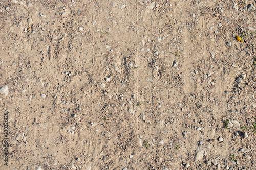 Fotografía  Texture of small gray gravel. Top view