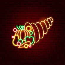 Cornucopia Neon Sign