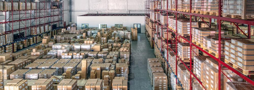 Fototapeta Logistics warehouse interior