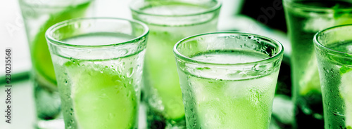 St. Patrick's Day, green, glass, alcohol, party, cocktail, bar, drink, background,