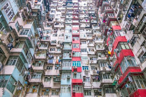 fototapeta na szkło Dense residential building in Hong Kong