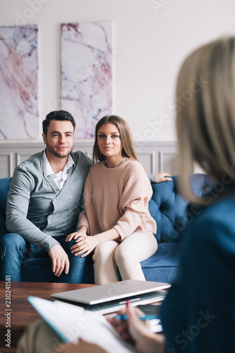 Fotografie, Obraz Young couple on consult.
