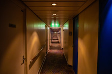 Long Corridor Of Cruise Ship, ...