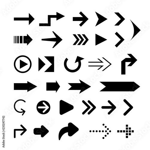 Fototapeta Collection of arrow silhouette obraz na płótnie