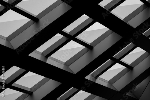 Abstract background architecture lines Canvas Print