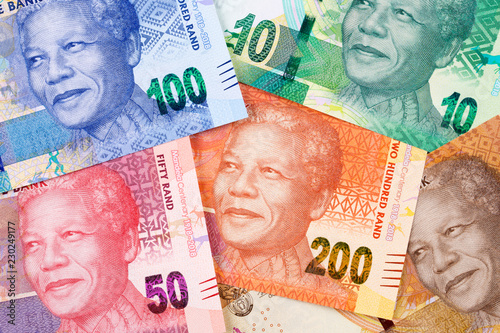 Valokuva  South African money a business background