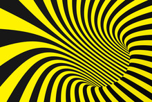 Black And Yellow Spiral Tunnel...