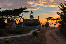 Lighthouse At Sunset. Point Pi...