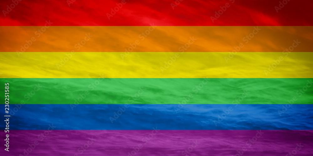 Fototapeta LGBTQ colorful flag