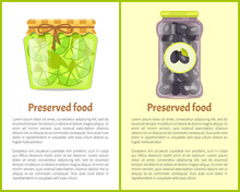 Preserved Food Poster Lime And Black Picked Olives