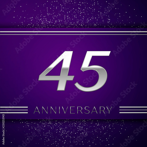 Foto  Realistic Forty five Years Anniversary Celebration design banner