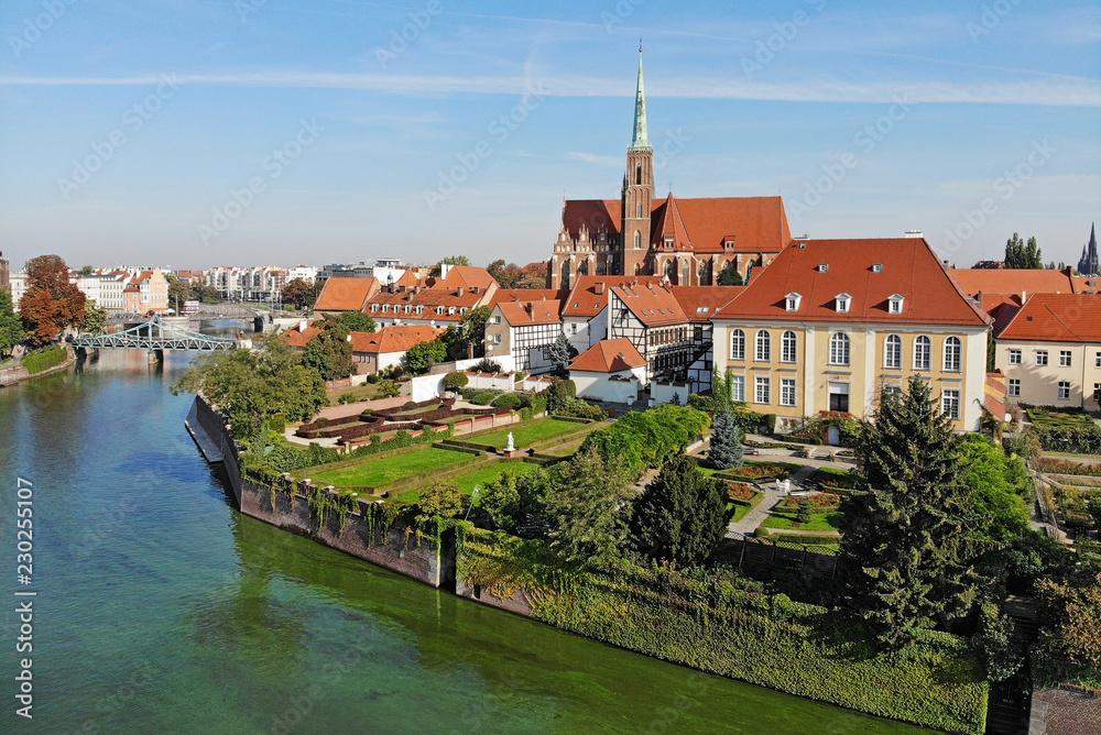 Fototapeta Ostrów Tumski we Wrocławiu