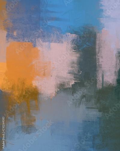 Fototapeta Canvas artwork hand made. Multi color abstract art. obraz na płótnie