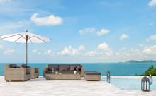 Outdoor Pool Terrace Living Ar...