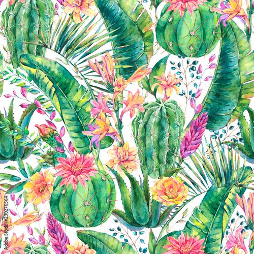 egzotycznej-naturalnej-rocznik-akwareli-kwitnacy-kaktusowy-bezszwowy-patte