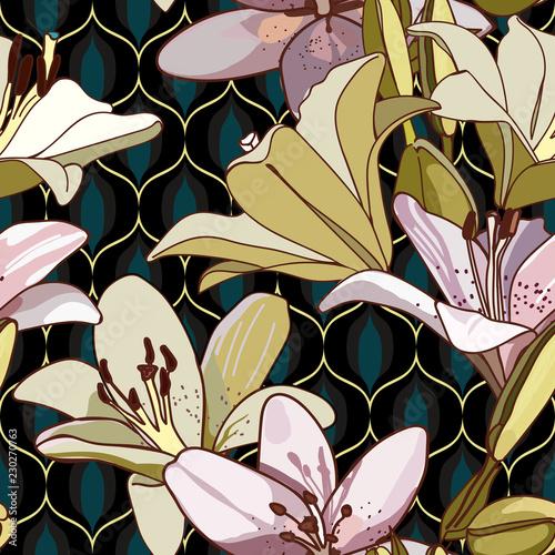 lilie-bezszwowy-wzor