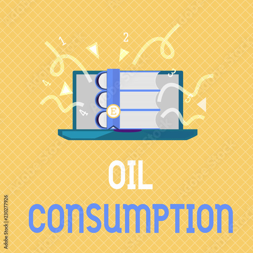 Fotografía  Word writing text Oil Consumption