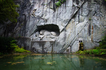 Lion Monument (Lewendenkmal), Luzern, Switzerland