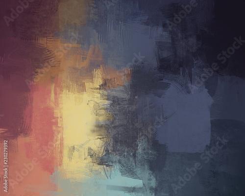 Fototapeta Multi color wall painting. Hand made. obraz na płótnie