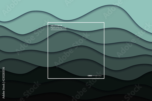 Vector realistic isolated papercut layer background for decoration and covering Canvas Print
