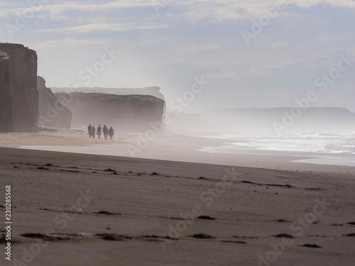 Fotografie, Obraz  Surfer am Atlantik in Portugal, nahe Obidos