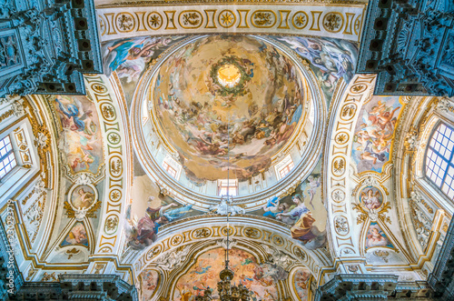In de dag Palermo The dome of the Church of Santa Caterina in Palermo. Sicily, southern Italy.