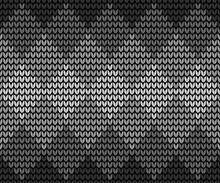 Seamless Black Squares Knitting
