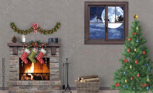 Billede på lærred La notte di Natale